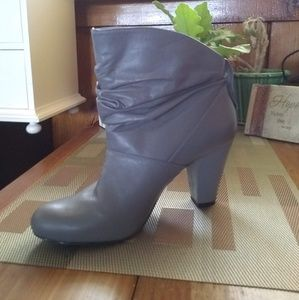 BCBGeneration Gray Ankle Booties